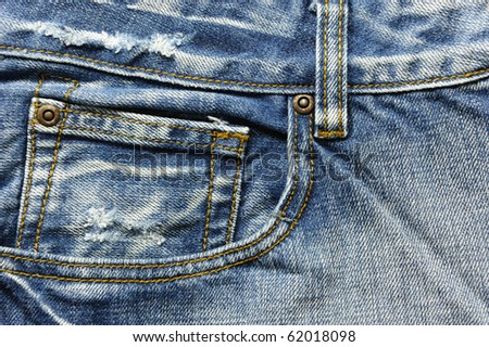 Jean Abstract - stock photo