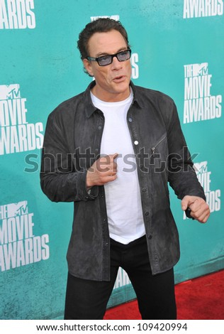 Jean-Claude Van Damme at the 2012 MTV Movie Awards at Universal Studios, Hollywood. June 4, 2012  Los Angeles, CA Picture: Paul Smith / Featureflash - stock photo