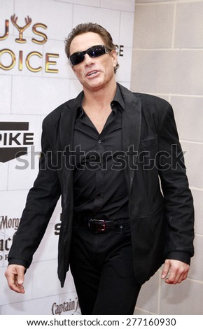 Jean-Claude Van Damme at the 2012 Spike TV's Guys Choice Awards held at the Sony Studios in Culver City on June 2, 2012.