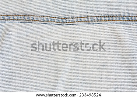 jean white old texture background - stock photo