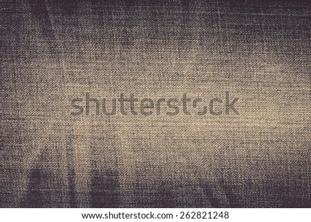 Jeans background, old shabby jeans - stock photo