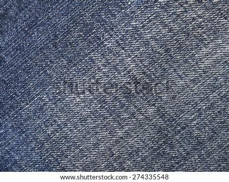 Jeans fabric plain surface background, denim textile texture - stock photo