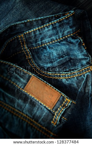 jeans image for background - stock photo