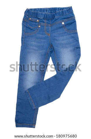 Jeans isolated on white background