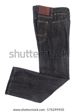 Jeans Isolated on White blackground