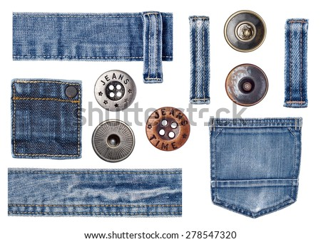 jeans label clothing tag - stock photo