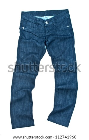 jeans pants isolated on white