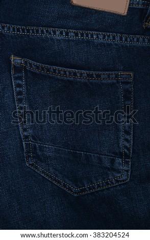 Jeans pocket - stock photo
