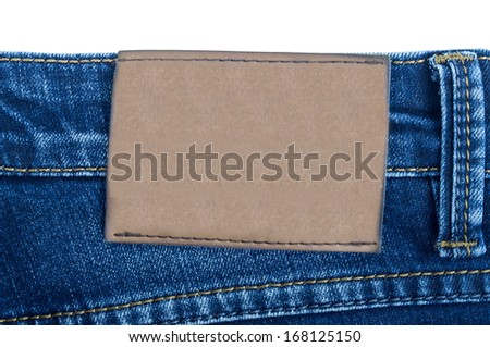 Jeans Pocket, completely isolated on white - stock photo