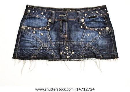 Jeans skirt - stock photo