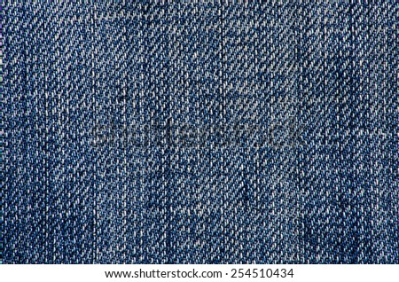 Jeans texture background, close up blue jeans - stock photo
