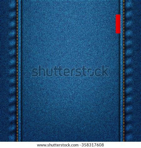 jeans texture blue fabric denim background. stock illustration - stock photo