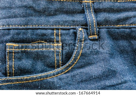 Jeans texture for background - stock photo