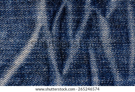 Jeans texture or background denim blue. - stock photo