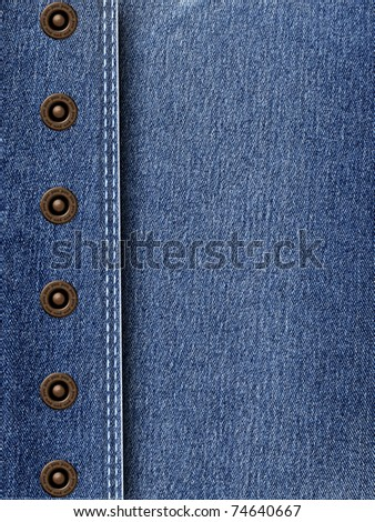 JEANS TEXTURE with rivets - stock photo