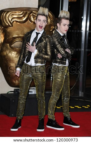 Jedward arriving for the BAFTA Children's Awards 2012 at the London Hilton, London. 25/11/2012 Picture by: Steve Vas
