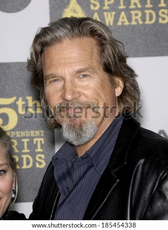 Jeff Bridges in attendance for 25th Film Independent Spirit Awards, Event Deck at Nokia Theatre LA Live, Los Angeles, CA March 5, 2010 - stock photo