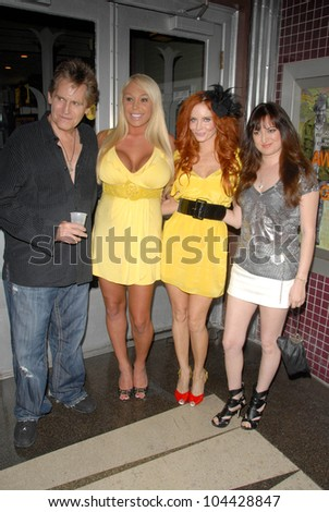 Jeff Conaway and Mary Carey with Phoebe Price and Vikki Lizzi at the Los Angeles Charity Benefit Premiere of 'Bad Cop'. Fairfax Cinemas, West Hollywood, CA. 07-09-09