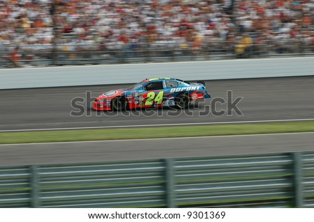Jeff Gordon #24 at the Brickyard 400 in Indianapolis