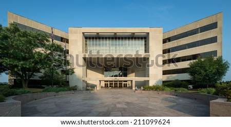 JEFFERSON CITY, MISSOURI - JULY 22: Harry S. Truman State Office building on High Street on July 22, 2014 in Jefferson City, Missouri