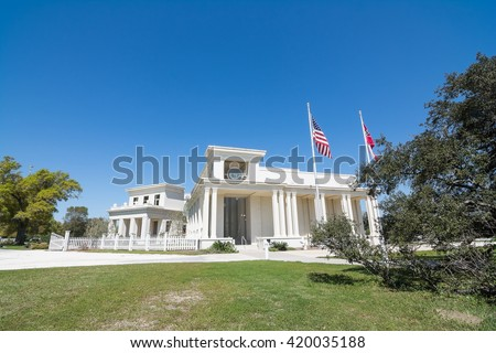 Jefferson Davis Museum located at Beauvoir in Biloxi, Mississippi.