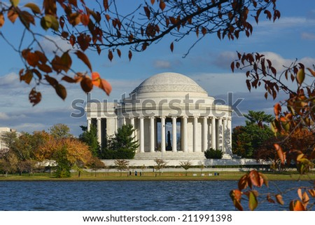 Jefferson Memorial in Autumn - Washington D.C. United States of America