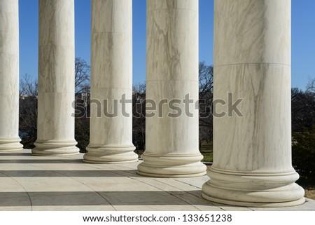 Jefferson Memorial in Washington DC - stock photo