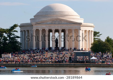 Jefferson Memorial, Tidal Basin, Washington DC - stock photo