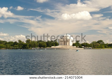 Jefferson national memorial in Washington DC