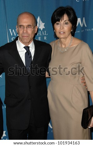 Jeffrey Katzenberg and wife at the  Simon Wiesenthal Center's 2010 Humanitarian Award, Beverly Wilshire Hotel, Beverly Hills, CA. 05-05-10