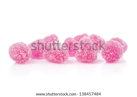 Jellied candies, isolated on white. Selective focus