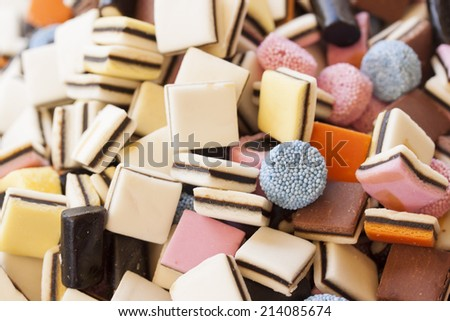 jelly and candy background - stock photo