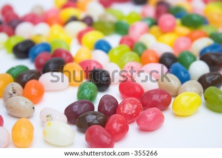Jelly bean candy - selective focus