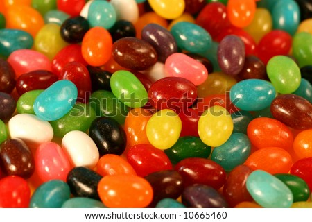 Jelly Beans Background - stock photo