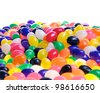 Jelly beans isolated on a white background. - stock photo