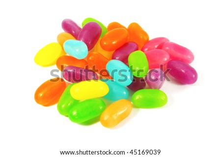 Jelly Beans the Ultimate Gummy Candy Snack - stock photo