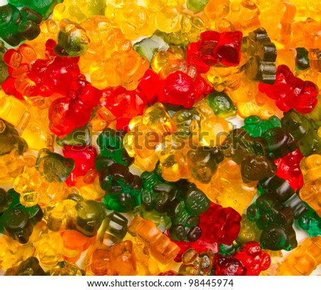 Jelly bears background - stock photo