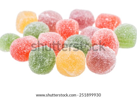 jelly candies in sugar - stock photo