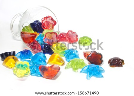 Jelly candy homemade on white background