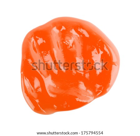 jelly, chewing gum isolated on white background - stock photo
