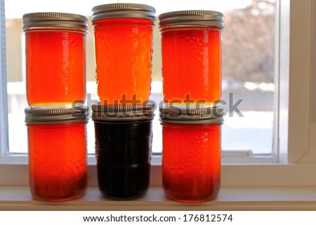 Jelly conserves - stock photo