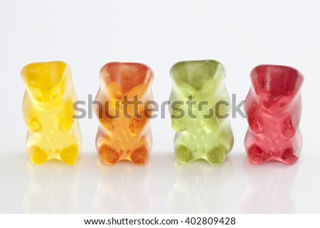 Jelly Gummy Bears - stock photo