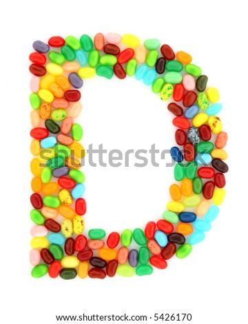 jellybean D - stock photo
