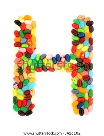 jellybean H - stock photo