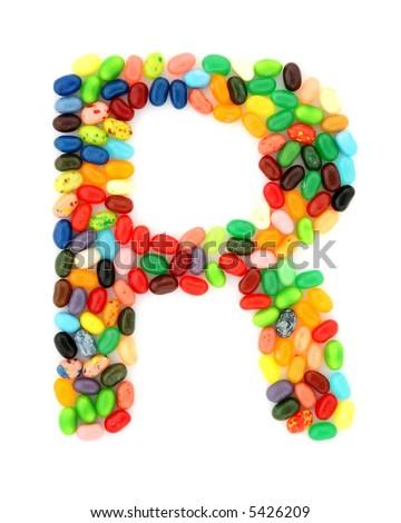 jellybean R - stock photo