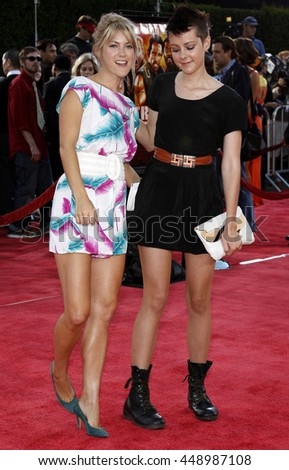 Jena Malone and Laura Ramsey at the Los Angeles premiere of 'Tropic Thunder' held at the Mann Village Theater in Westwood, USA on August 11, 2008.