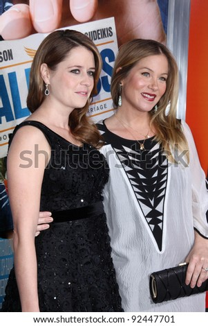 "Jenna Fischer, Christina Applegate  at the ""Hall Pass"" Los Angeles Premiere, Cinerama Dome, Hollywood, CA. 02-23-11"