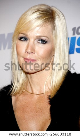 Jennie Garth at the KIIS FM's Jingle Ball 2012 held at the Nokia Theatre LA Live in Los Angeles on December 1, 2012. - stock photo