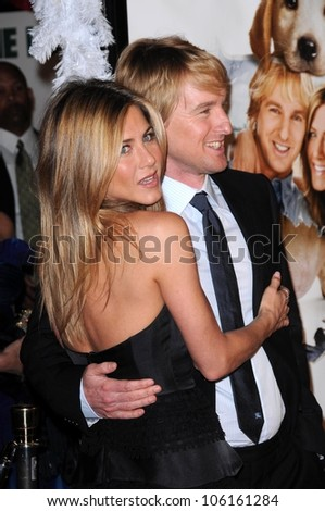 Jennifer Aniston and Owen Wilson   at Los Angeles Premiere of 'Marley and Me'. Mann Village Theater, Los Angeles, CA. 12-11-08