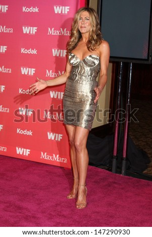 Jennifer Aniston arriving at the Women in Film Annual Crystal & Lucy Awards at the Century Plaza Hotel in Century City , CA on June 12, 2009. - stock photo